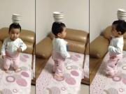 Clip Eva - Đặt bát lên đầu, em bé múa siêu ấn tượng