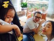 Làng sao - Đoan Trang hạnh phúc bên gia đình ngày cuối tuần