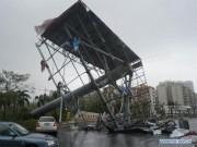 Bão Mujigae đổ bộ Trung Quốc, 4 người chết