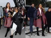 Làng sao - Rihanna nổi bật áo khoác rộng thùng thình, sặc sỡ