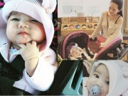 """""""Tan chảy"""" với vẻ mũm mĩm của con gái Kim Hiền"""
