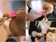 Làm mẹ - Mẹ khéo tay biến tấu 3 kiểu tóc đáng yêu cho bé đến trường