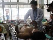 Tin tức - Sập giàn giáo, một nạn nhân bị vỡ xương chậu
