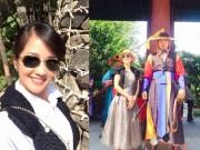 Làng sao - Diva Hồng Nhung khoe vẻ đẹp không tuổi ở Hàn Quốc