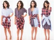4 kiểu váy siêu đẹp từ chiếc sơ mi cũ của chàng