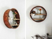 Nhà đẹp - Biến thùng gỗ bỏ đi thành giá đựng đồ đẹp mê ly