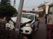 Ngày mới - Truy đuổi 2 tên trộm chó, xe CSGT đâm vào cột điện