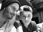 """Làng sao - Beckham bị fan """"ngó lơ"""" vì con trai Brooklyn"""