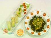Bếp Eva - Đầu tháng ăn chơi với bánh tráng trộn, gỏi cuốn chay