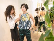 Thời trang - Kathy Uyên lung linh trong sắc gấm đương đại