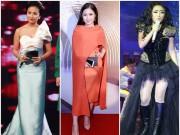 """Thời trang - Sao Việt bỗng hóa """"nấm lùn"""" vì váy áo cồng kềnh"""