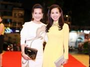 Làng sao - HH Thu Hoài thanh lịch bên bà xã MC Bình Minh