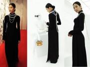"""Thời trang - Hoàng Thùy """"ghi điểm"""" với áo dài tại triển lãm Louis Vuitton"""