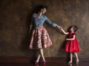 Làng sao - Hồng Nhung ngưỡng mộ con gái khi làm mẫu nhí