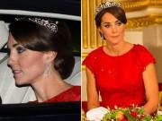 Làng sao - Công nương Kate đội vương miện đi dự tiệc