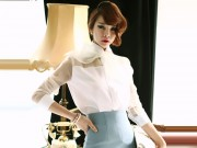 Thời trang - Áo sơ mi cổ thắt nơ níu giữ tuổi xuân cho phái đẹp công sở