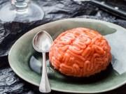 Bếp Eva - Bánh bộ não vị vani dâu tây cho Halloween