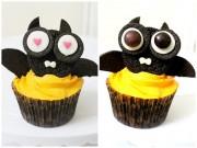 Bánh cupcake hình dơi cho Halloween