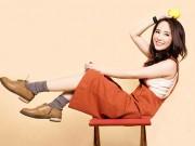 Làng sao - Quỳnh Nga trẻ trung theo phong cách sao Hàn