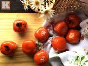 Bếp Eva - Bánh gấc nhân đậu xanh đẹp mắt, ngon miệng