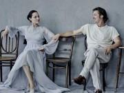 Làng sao - Angelina Jolie nô đùa, nghịch ngợm bên Brad Pitt