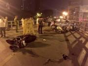 Khởi tố vụ taxi đâm liên hoàn trên cầu vượt Thái Hà