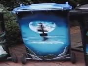 Clip Eva - Họa sĩ biến thùng rác thành bức tranh phong cảnh tuyệt đẹp