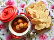 Bếp Eva - Thịt viên bí đỏ sốt cà chua nóng hổi