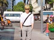 Làng sao - Nathan Lee xuống phố với diện mạo mới
