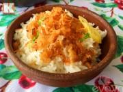Bếp Eva - Giản dị với tép khô rang tóp mỡ mà đưa cơm