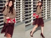 Thời trang - Diễm My 9x đeo túi Gucci gây xôn xao một góc phố