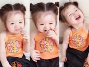 """Làng sao - Con gái Elly Trần mặc áo yếm, cột tóc Na Tra gây """"sốt"""""""
