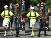 Làng sao - Victoria cực ngầu đưa con trai đi học tennis
