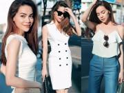 Thời trang - Cách mặc đồ trắng tinh tế hơn người của Hồ Ngọc Hà