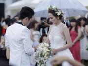 Làng sao - HH Diễm Hương tổ chức đám cưới dưới mưa