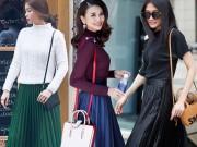 Thời trang - Váy xòe xếp ly vẫn khiến các người đẹp thổn thức