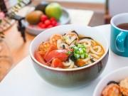 Bếp Eva - Mì Udon nấu tôm hấp dẫn bữa sáng