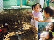Làng sao - Con gái Đoan Trang thích thú khi được về quê