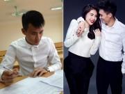 Làng sao - Ông xã Thủy Tiên bất ngờ dự thi Đại học Luật Hà Nội