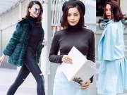 Thời trang - Thời trang mùa đông vừa ấm vừa sang của sao Việt