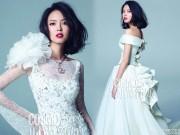 Làng sao - HHTG Trương Tử Lâm làm cô dâu gợi cảm