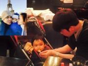 Làng sao - HH Diễm Hương hạnh phúc khoe ảnh chồng chăm con