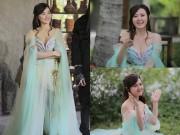 Làng sao - Midu diện váy mong manh, đẹp rạng rỡ