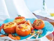 Bếp Eva - Cà chua nhồi cơm, thịt bò nướng phô mai