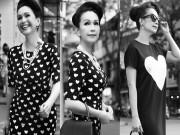 Thời trang - Diễm My 6X dạo phố với gu thời trang cổ điển