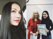 Làng sao - Kim Hiền học tiếng Anh ngày một tiến bộ