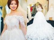 Làng sao - Á hậu Diễm Trang một mình thử váy cưới cho hôn lễ tại Vĩnh Long