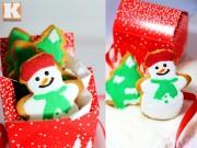 Bánh quy bơ người tuyết đón Noel