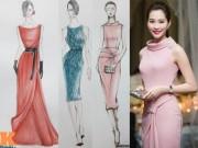 Thời trang - Bản phác thảo những mẫu váy đẹp ngẩn ngơ của HH Thu Thảo
