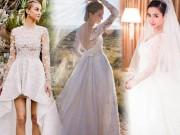 """Thời trang - 7 bộ váy cưới đẹp như """"ngôn tình"""" của Sao năm 2015"""